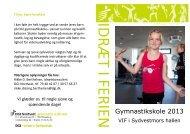 IDRÆT I FERIEN Gymnastikskole 2013 - DGI
