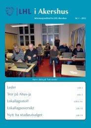 LHL Akershus medlemsblad nr. 1/2012