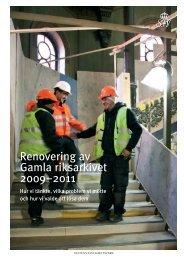 Renovering av Gamla riksarkivet 2009–2011 - Aix
