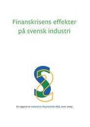 Finanskrisens effekter på svensk industri - Facken inom industrin