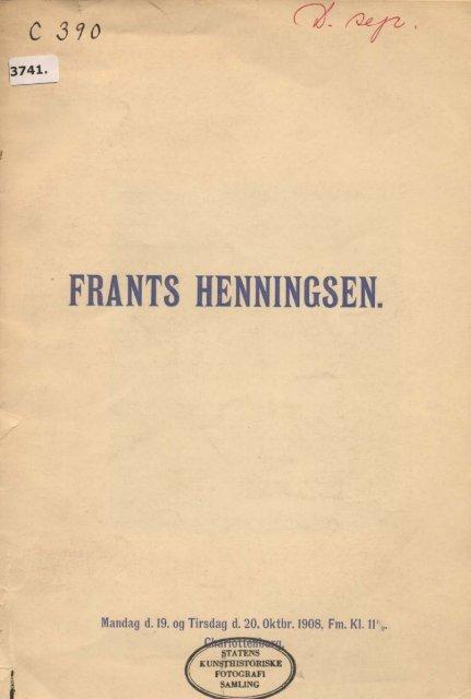FRANT8 HENNINGSEN.