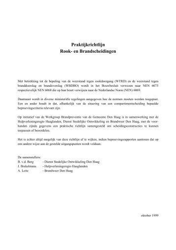 Praktijkrichtlijn Rook- en Brandscheidingen - Brandweer