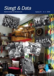 2009-1 slægt & data.pdf - DIS-Danmark