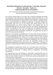 Ganzheitliche Behandlung von Erkrankungen - Dr. Dr. Klaus Zak