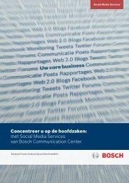 Social Media Services - Bosch Communication Center
