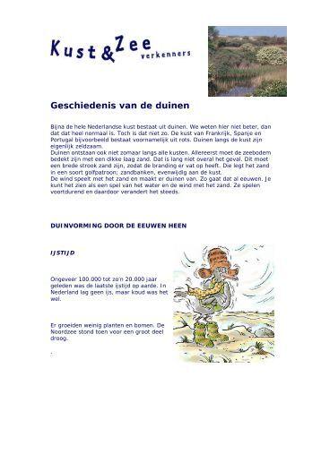 Geschiedenis van de duinen - Kustgids.nl