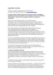 Ligestilling i Forskning Af Anja C. Andersen, Nordisk Institut for ...