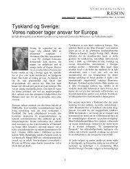 RÆSON Tyskland og Sverige: Vores naboer tager ansvar for Europa