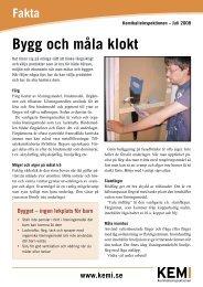 Bygg och måla klokt - Kemikalieinspektionen