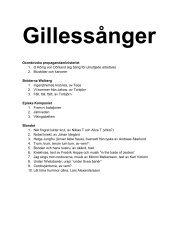 Gillessånger