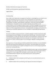 Richtlijn voorlichting patiënten geestelijke ... - Kwaliteitskoepel