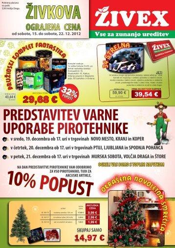 Letak Živkova ograjena cena December 2012 1. del