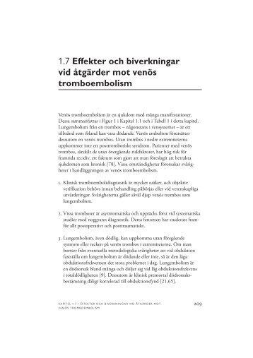 1.7 Effekter och biverkningar vid åtgärder mot venös ... - SBU