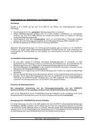 Zulässigkeit von Hosenträgergurten - Schroth Safety Products GmbH