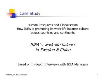 IKEA' s work-life balance in Sweden & China - SIAF