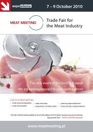 Trade Fair for the Meat Industry - Expo Silesia