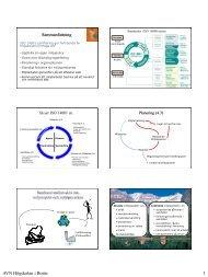Presentation miljöledningssystemet - Högskolan i Borås
