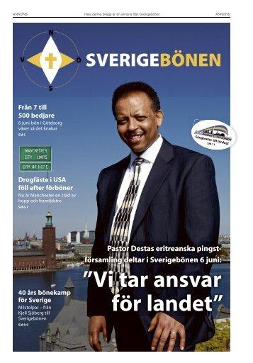 Pastor Destas eritreanska pingst- församling deltar i Sverigebönen 6 ...