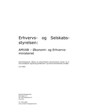 AMVAB - Økonomi- og Erhvervsministeriet - Digital lovproces guide