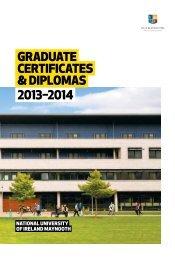 Diplomas & Certificate Programmes Prospectus - NUIM Graduate ...