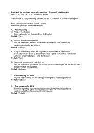 Protokoll fra ordinær generalforsamling i ... - Herborvi.no