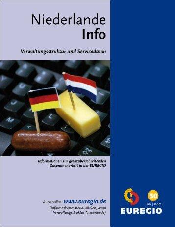 Verwaltungsstruktur und Servicedaten - Euregio