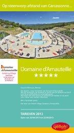 Camping Village Domaine d'Arnauteille / Tarieven 2013