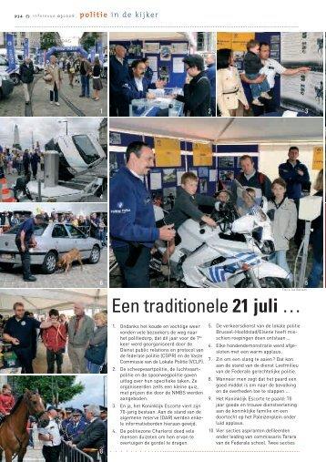 Een traditionele 21 juli … - Federale politie