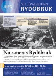 Miljösanering Rydöbruk, nyhetsbrev nr 1 2013 - Hylte