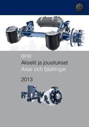 Uusi Akselit ja jousitukset 2013 -luettelo - BPW Kraatz Oy