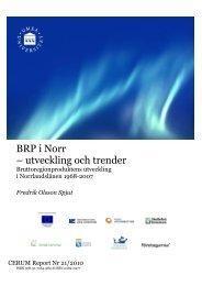 BRP: Utveckling och trender - Cerum - Umeå universitet