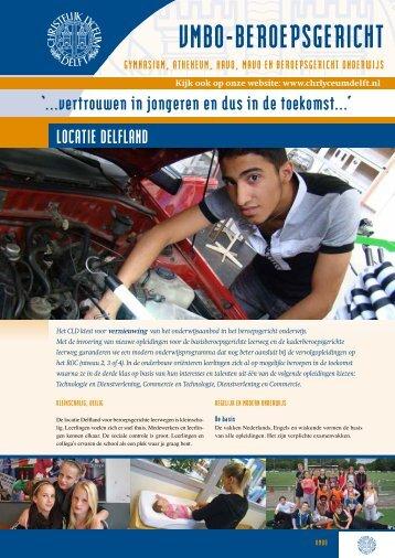 Informatieblad vmbo 2012-2013 - Christelijk Lyceum Delft