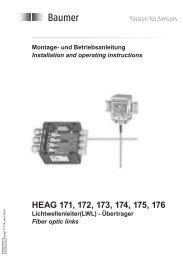 Montage-/ Betriebshinweise - Baumer Hübner
