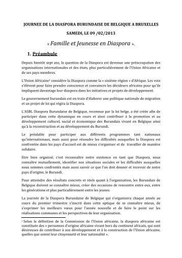 Journée De La Diaspora Des Burundais En Belgique Burundi News