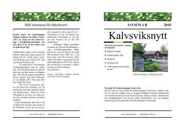 Kalvsviksnytt sommaren 2010 - Kalvsvik.se