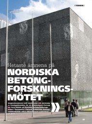 NORDISKA BETONG- FORSKNINGS- MÖTET - Graphic Concrete
