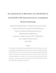 On measurement of dislocation core distributions in ... - IPPT PAN