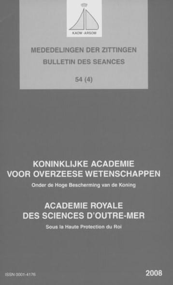 (2008) n°4 - Royal Academy for Overseas Sciences