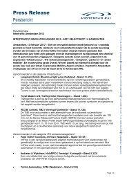 Press Release Persbericht - Intertraffic.com