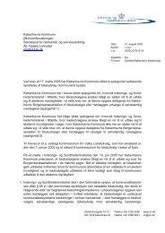 Brev fra IM vedr. lokaludvalg - Københavns Kommune