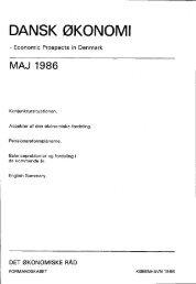 Dansk økonomi, maj 1986 - De Økonomiske Råd