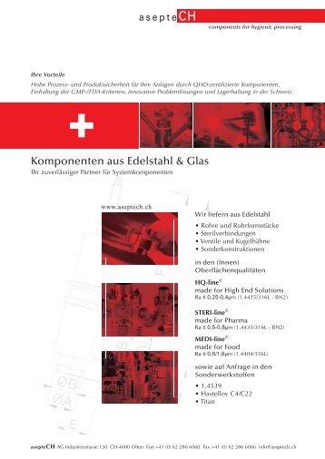 Edelstahlkatalog zum Download - asepteCH AG