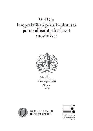 Maailman terveysjärjestön WHO:n ohjeet - The World Federation of ...
