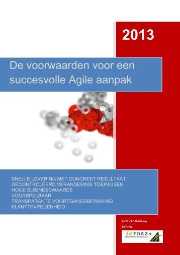 De voorwaarden voor een succesvolle Agile aanpak - Inforza