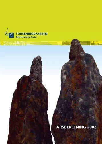Styrets årsberetning 2002 - Forskningsparken AS