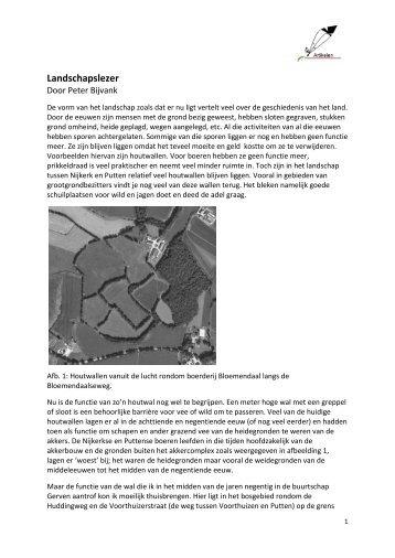 Artikel Gerven Landschapslezer - Historisch Geografische Artikelen