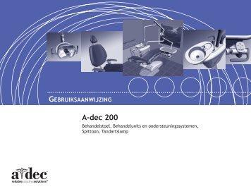 dec 200 Gebruiksaanwijzing - A‑dec