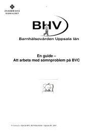 En guide – Att arbeta med sömnproblem på BVC - Webbhotell SLL