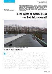Is een witte of zwarte kleur van het dak relevant?