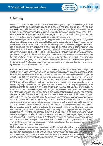 Advies van de Hoge Gezondheidsraad over vaccinatie tegen rota ...